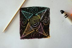Draw with color crayons - then watch as you colour over in black n scrape away the black crayon- black magic :) looks fun for kids and big kids