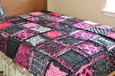 Custom Rag Quilt, Full Size, You Pick Fabrics and Colors, Made to Order