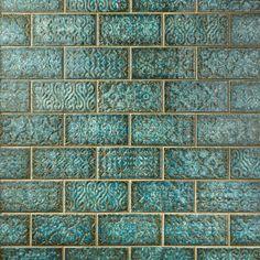 Patina Lagoon Polished Porcelain Tile - 5 x 9 - 100566454 Polished Porcelain Tiles, Porcelain Ceramics, Kitchen Tiles, Kitchen Colors, Kitchen Mats, Boho Kitchen, Kitchen Design, Design Rustique, Blue Tiles