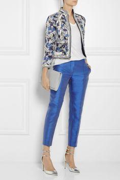 J.Crew Collection silk-blend shantung straight-leg pants NET-A-PORTER.COM