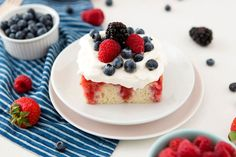 How to Make a Patriotic 4th of July Poke Cake via Brit + Co