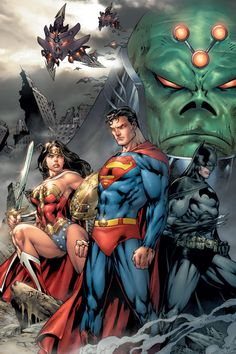 DC Universe Legends - Braniac, Superman, Wonder Woman, & Batman