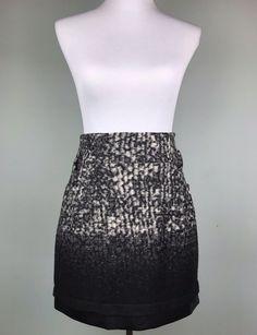79d6626e91a Javier Simorra Black Grey Abstract Snakeskin Print Mini Skirt Size 4 S