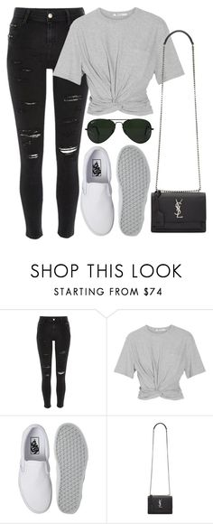 """Untitled #844"" by r0sesandtea ❤ liked on Polyvore featuring River Island, T By Alexander Wang, Vans, Yves Saint Laurent and Ray-Ban"