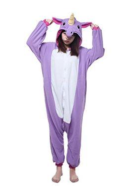 Engerla Animal Cartoon Halloween Kigurumi Unicorn Pajamas Cosplay Onesie(L)  Best Halloween Costumes   Dresses USA 7f894ed5e6a2c