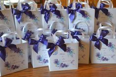 Purple wedding/birthday party favor bags by SandysCandyBags