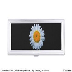 Customizable Color Daisy Business Card Holder