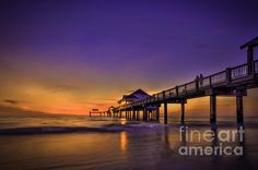 """""""Pier Reflections"""" photo by Marvin Spates (His photos are for sale, with framing and shipping anywhere in the world)"""