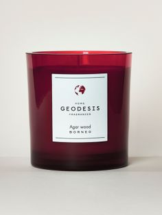 Scented candle Agar wood 260G / Bougie Rubis Bois d'Agar - Geodesis Parfums, Home Fragrance. Bougie parfumée pour la maison, made in france.