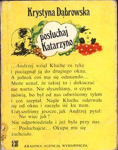Posłuchaj Katarzyno, Krystyna Dąbrowska, KAW, http://www.antykwariat.nepo.pl/posluchaj-katarzyno-krystyna-dabrowska-p-14.html