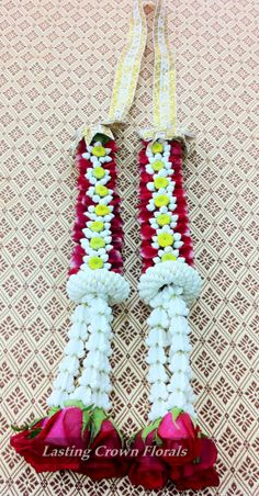 Flower Garland With Different Mixture Of Fresh Flowers Use For Wedding And Other Special Occasion