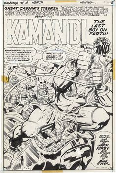 Kamandi #4 by Jack Kirby and Mike Royer