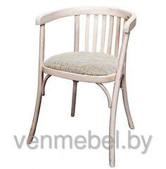 Кресло деревянное венское с мягким сидением Alex (КМФ 250-01-2), краситель 327, фото 3