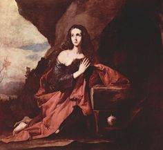 José de Ribera  Die büßende Hl. Maria Magdalena, Fragment. Um 1641, Öl auf Leinwand, 181 × 195 cm. Madrid, Museo del Prado. Spanien. Barock.  KO 00765
