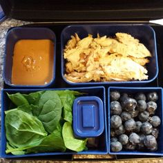 @willsketchforfood - #wholelifechallenge #lunch day11: lemon thyme chicken, mixed greens, #homemade vinaigrette, mixed berries, and coconut & peanut spread for my bananas (not pictured) #laptoplunches #lunchbox