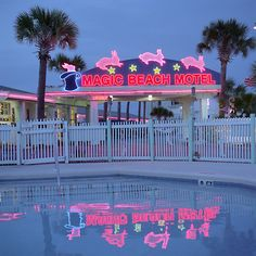 """The Magic Beach Motel. """"Girls and Guns"""" by Petra Collins. Vaporwave, Kitsch, Image Tumblr, Tout Rose, Petra Collins, New Retro Wave, Neon Aesthetic, Witch Aesthetic, Neon Lighting"""