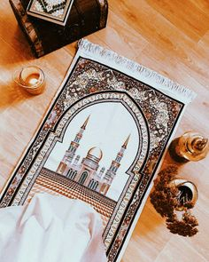 Quran Wallpaper, Islamic Quotes Wallpaper, Motifs Islamiques, Muslim Prayer Rug, Love In Islam, Islamic Phrases, Learn Islam, Prayer Room, Islamic Gifts