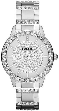 New Fossil Women's Watch SS Band w Crystals Bling Face Bezel Cool Watches, Watches For Men, Ladies Watches, Casual Watches, Women's Watches, Watch Model, Beautiful Watches, Luxury Watches, Bracelet Watch