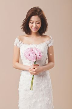 korean wedding style for short hair