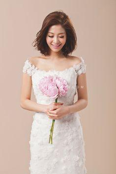 korean wedding style for short hair