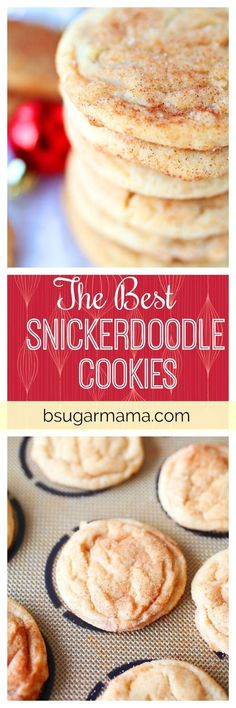 Here is a recipe for the Best Snickerdoodle Cookies you will find. These Snickerdoodle Cookies are moist and soft. They are the perfect Christmas cookie!