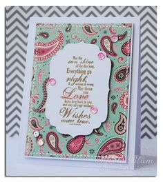 Sylvia Blum: {Sylvias Stamping Place} – Birthday Wishes Come True - 6/20/13.  (Whimsy Stamps: Birthday Greetings.  Papers - Carta Bella/ Giddy Up Girl/ Pretty Paisley.  Spellbinders dies: Labels Four).