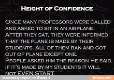 If my class built it, that plane would've exploded before the professors even got on it