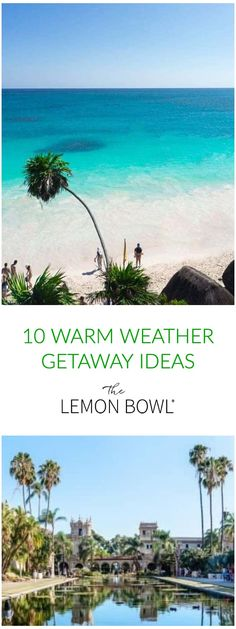 Planning a getaway? Here's your guide to my top 10 favorite warm weather getaways in the US and Mexico. Need A Vacation, Vacation Trips, Vacation Ideas, The Places Youll Go, Places To Visit, Places To Travel, Travel Destinations, Beach Trip, Beach Travel