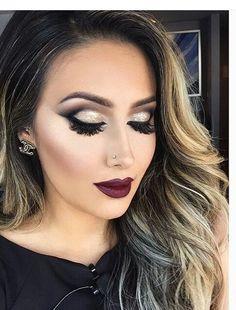 nice make up Sexy Makeup, Prom Makeup, Love Makeup, Makeup Inspo, Bridal Makeup, Wedding Makeup, Makeup Inspiration, Beauty Makeup, Hair Makeup