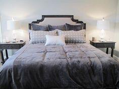 Grey on grey custom bedding by Ufabstore.com