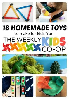 18 Easy Homemade Toys to Make from The Weekly Kids Co-Op