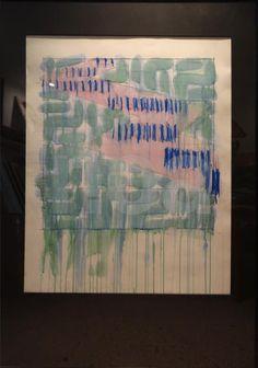 Rare #Œuvre signée de Richard #SMITH, #Abstraction de 1982