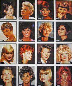 Linda Evangelista's ever-changing hairstyles.