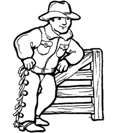 Cowboy Coloring Sheets for Preschoolers | You Might Also Like ...