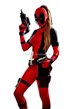 2014 Lady Deadpool Black And Red Spandex Bodysuit Theme Costume | Buy Wholesale On Line Direct from China