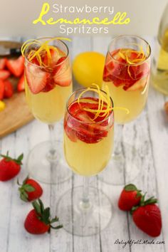 Move over mimosa, their's a new brunch cocktail in town! This sparkling, fresh drink features the Italian lemon liquor perfect with strawberries and Prosecco!