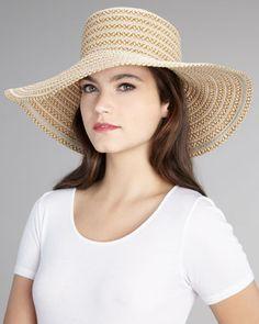 GG Dame Wide-Brim Hat by Eric Javits at Bergdorf Goodman.