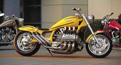 Honda Valkyrie custom by Denny Berg Motorcycle Types, Bobber Motorcycle, Honda Motorcycles, Custom Motorcycles, Custom Bikes, Virago Cafe Racer, Cafe Racer Honda, Goldwing Bobber, Honda Cruiser
