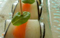Bouchées apéritives de radis noir et truite fumée