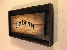 JIM BEAM Rustic Bourbon Whiskey Sign by PRIMOBARS on Etsy