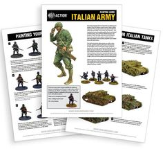 This 7 page Painting Guide will provide you with a step-by- step guide to painting the basic infantryman of the Italian Army in their grey cotton uniforms (perf