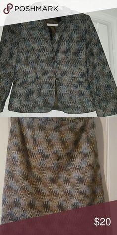 2 pcs Isabel & Nina suit size 8 Multi colored skirt suit Isabel & Nina Skirts Skirt Sets