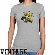 NCAA Wichita State Shockers Ladies Ash Distressed Logo Vintage Slim Fit T-shirt by Football Fanatics. $19.95. Wichita State Shockers Ladies Ash Distressed Logo Vintage Slim Fit T-shirtDistressed screen print graphicsRib-knit collarSlim fitSoft, comfy ribbed ladies T-shirt90% Cotton/10% PolyesterImportedOfficially licensed collegiate product90% Cotton/10% PolyesterSoft, comfy ribbed ladies T-shirtSlim fitDistressed screen print graphicsRib-knit collarImportedOff...