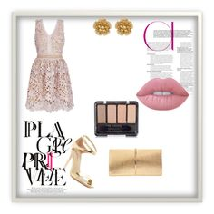 """dool up"" by jasna91 ❤ liked on Polyvore featuring Lime Crime, Nina Ricci, Via Spiga and Miriam Haskell"