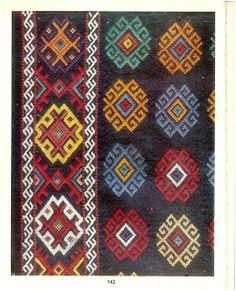 Portul popular românesc din județul Tulcea - E Secoșan, S Părău Folk Embroidery, Learn Embroidery, Embroidery Stitches, Embroidery Patterns, Machine Embroidery, Antique Quilts, Embroidery Techniques, Out Of Style, Bohemian Rug