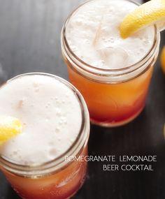 pomegranate lemonade beer cocktail