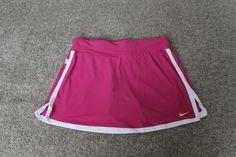 Nike Womens Fit Dry Dark Pink White Tennis Golf Running Skort Skirt Size Small S #Nike #SkirtsSkortsDresses