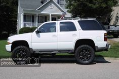 Lifted Tahoe White With Black Rims 2005 Trucks Accessorieodification Image Gallery