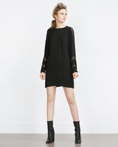 ZARA - COLLECTION SS16 - STRAIGHT CUT CONTRAST LACE DRESS