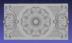 3d model of panel relief for cabinetry and woodworking.